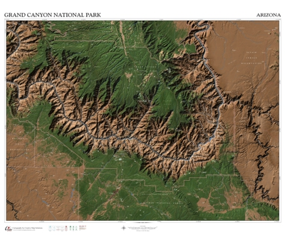 custom mapping grand canyon national park